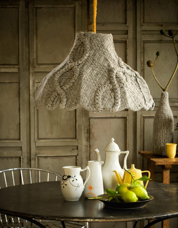 cable knit lamp