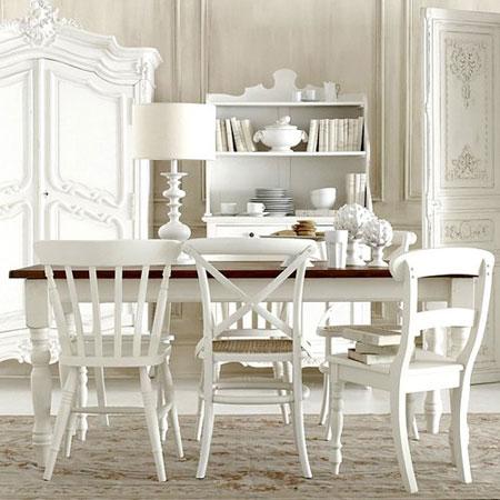 white DiningRoomMixedChairs