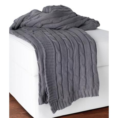Gray Throw Blanket @ Lamps Plus