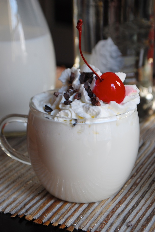 Adults Only - Whipped Vanilla White Hot Chocolate with Cocoa Nibs