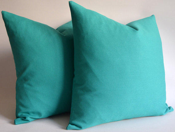 Turquoise Pillows @ Etsy