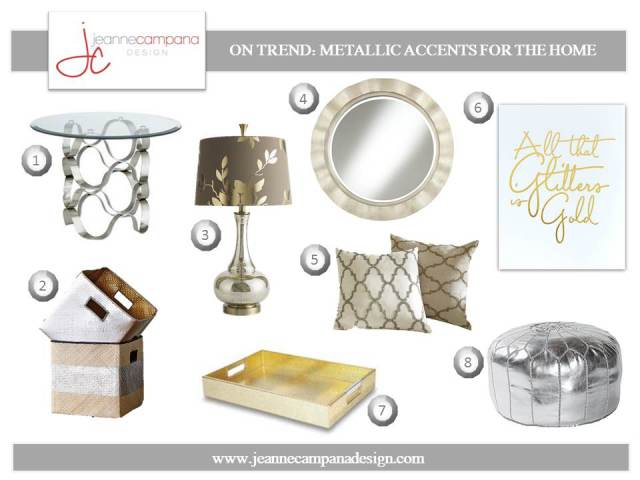 My Top Picks for Metallic Accents