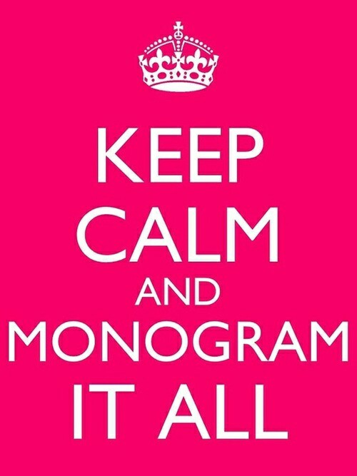Make Your Mark with Monograms