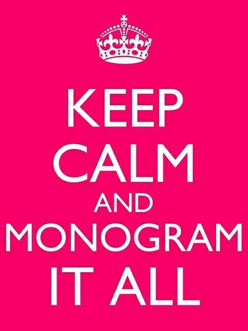 monogram quote