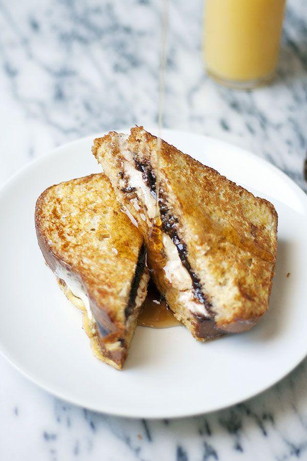 S'more Stuffed French Toast @ www.heathersfrenchpress.com