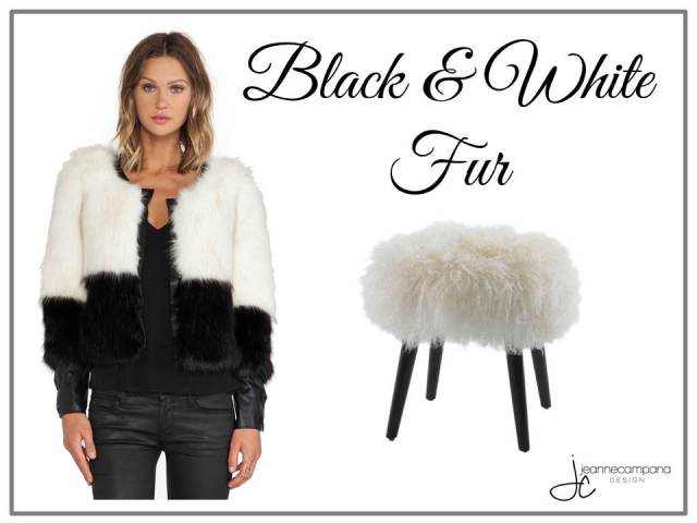 Fab Finds - Fashion - Black and white fur