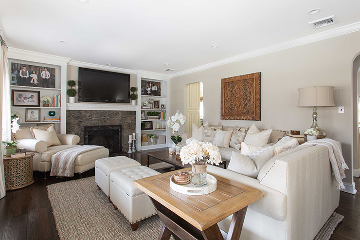 Neutral Living Room - Jeanne Campana Design