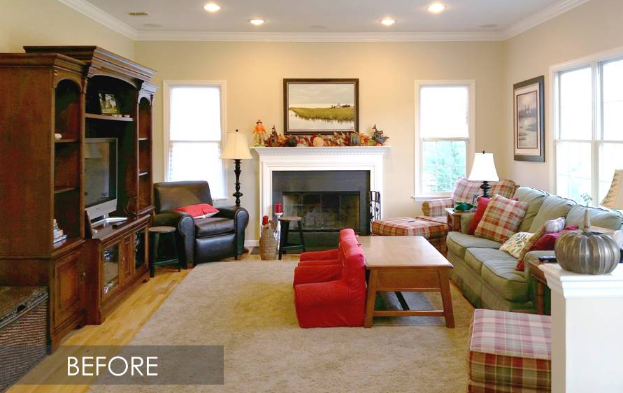 small living room before and after before and after coastal family room makeover jeanne 24237