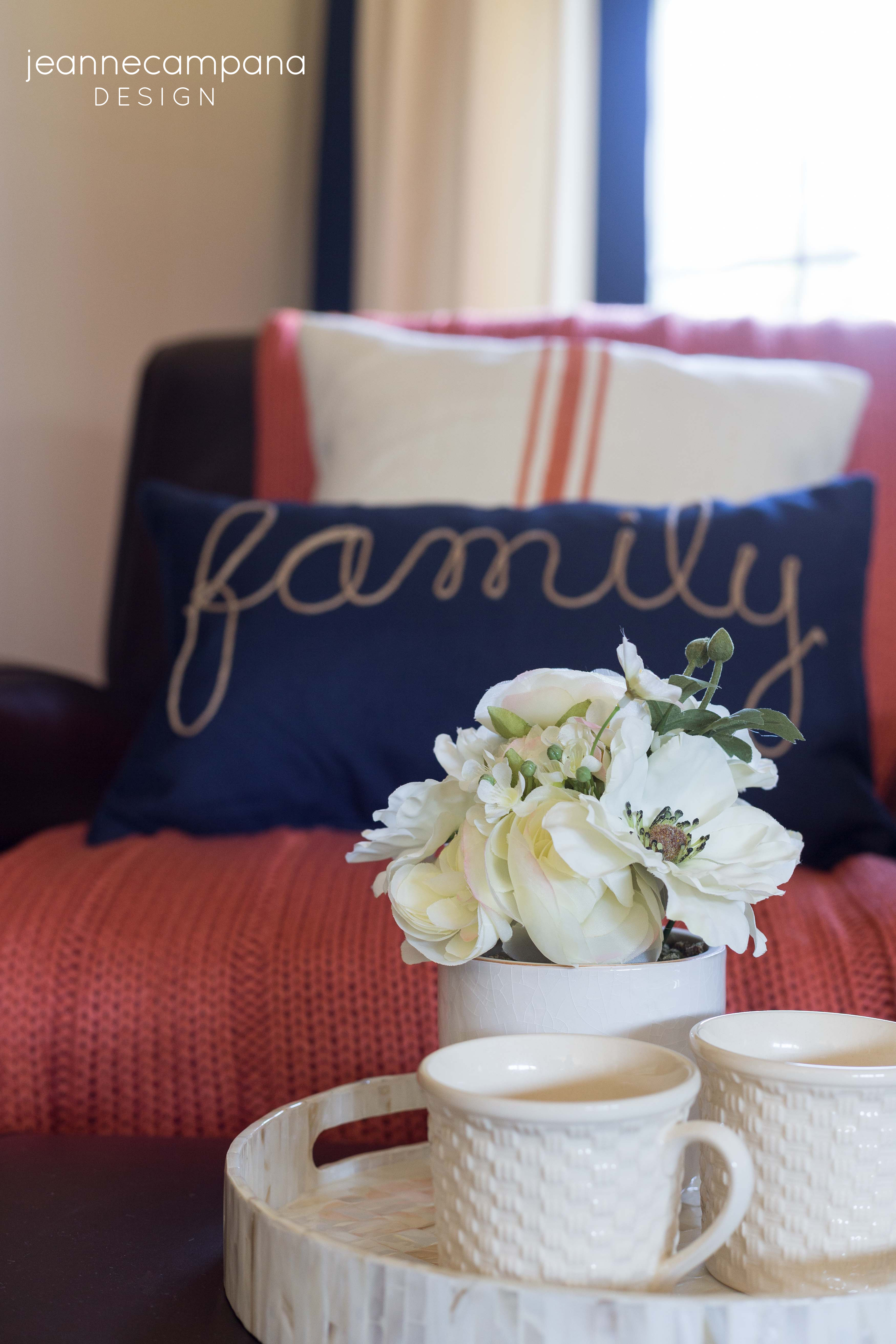 Before and After Coastal Family Room Makeover Jeanne Campana Design