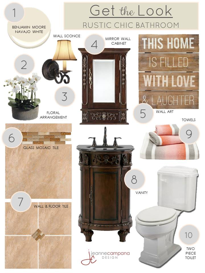 Rustic bathroom - get the look