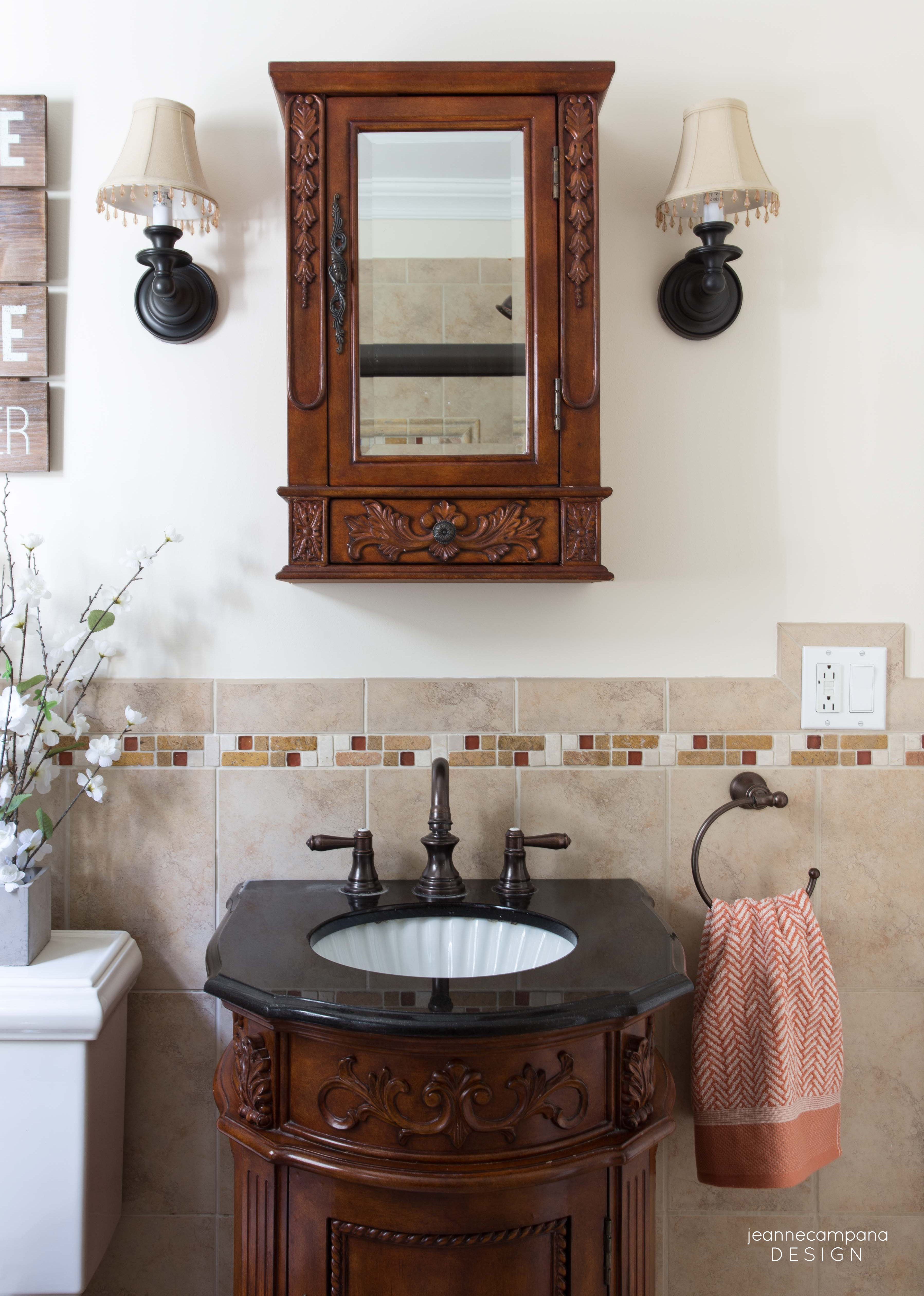 Before And After Rustic Chic Bathroom