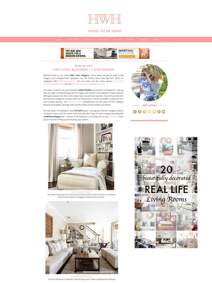 Feature - HWHlovesbloggers - Living Rooms