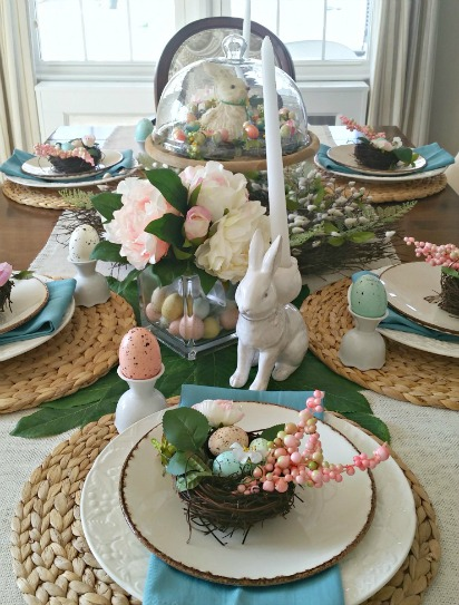 Pretty in Pastels Easter Tablescape