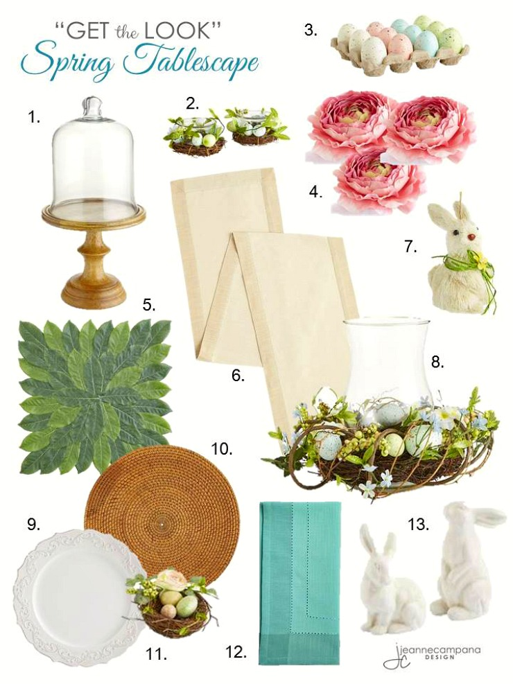 jeannecampanadesign - eastertable - get the look