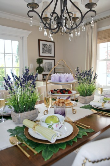 Garden Inspired Mother's Day Tablescape