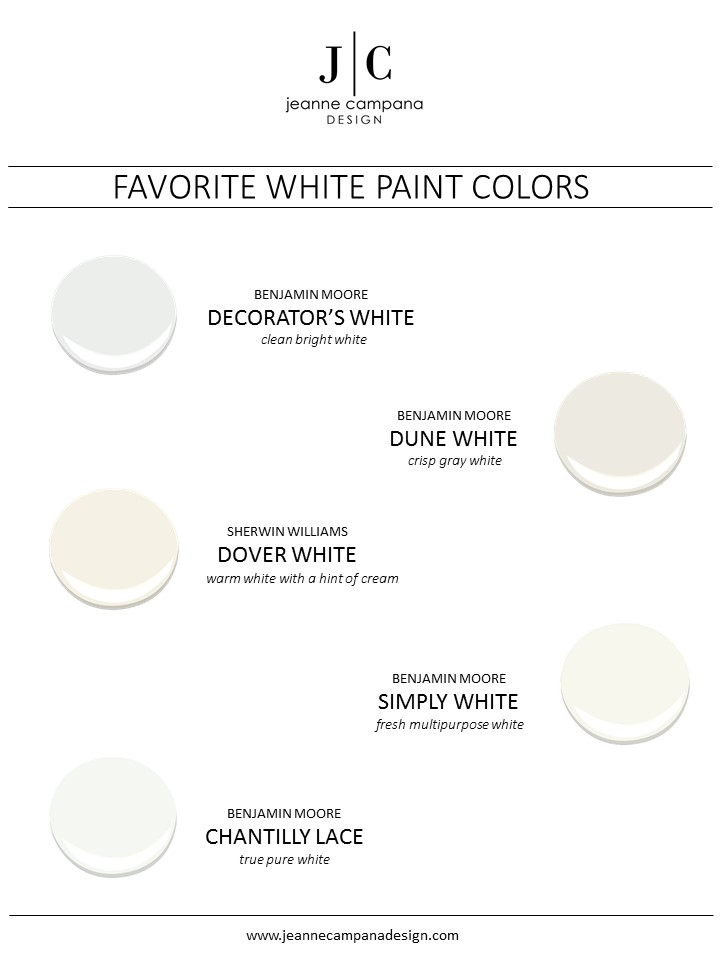 My Favorites White Paint Jeanne Campana Design