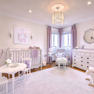 Riviera Drive East Project: Baby Girl's Lavender Nursery